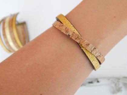 Bracelet fin LII & cordon jaune -13€