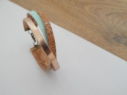 Bracelet LII, vert glacé,Rosé 15€