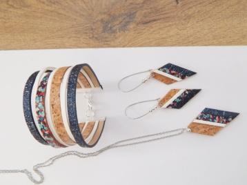 Manchette 23.50€ collier 15.50€ boucles 14.50€